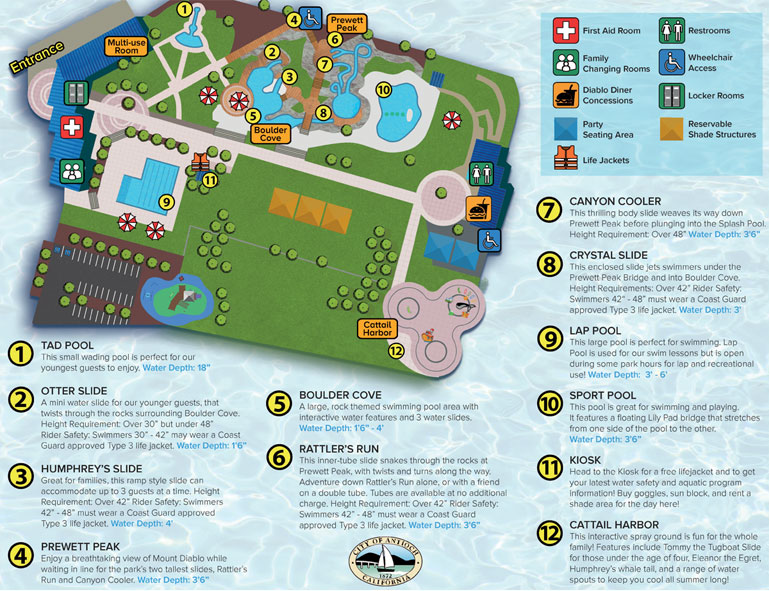 map of water park