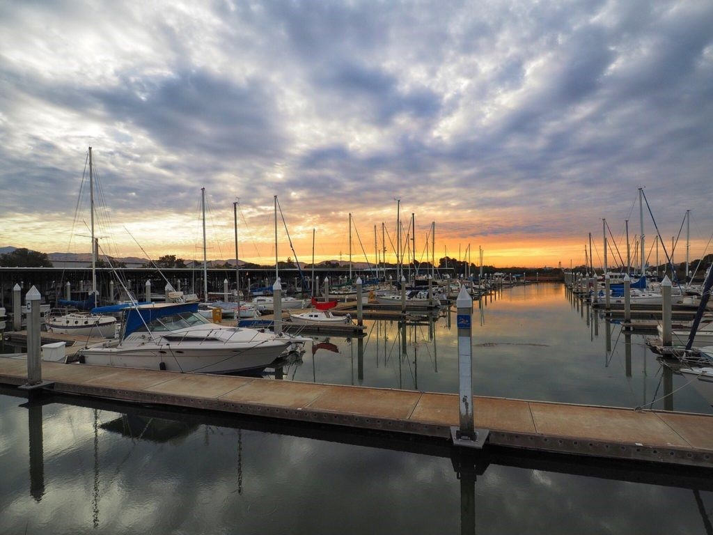 antioch marina at sunset