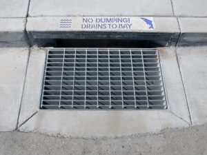 no dumping to the bay storm drain