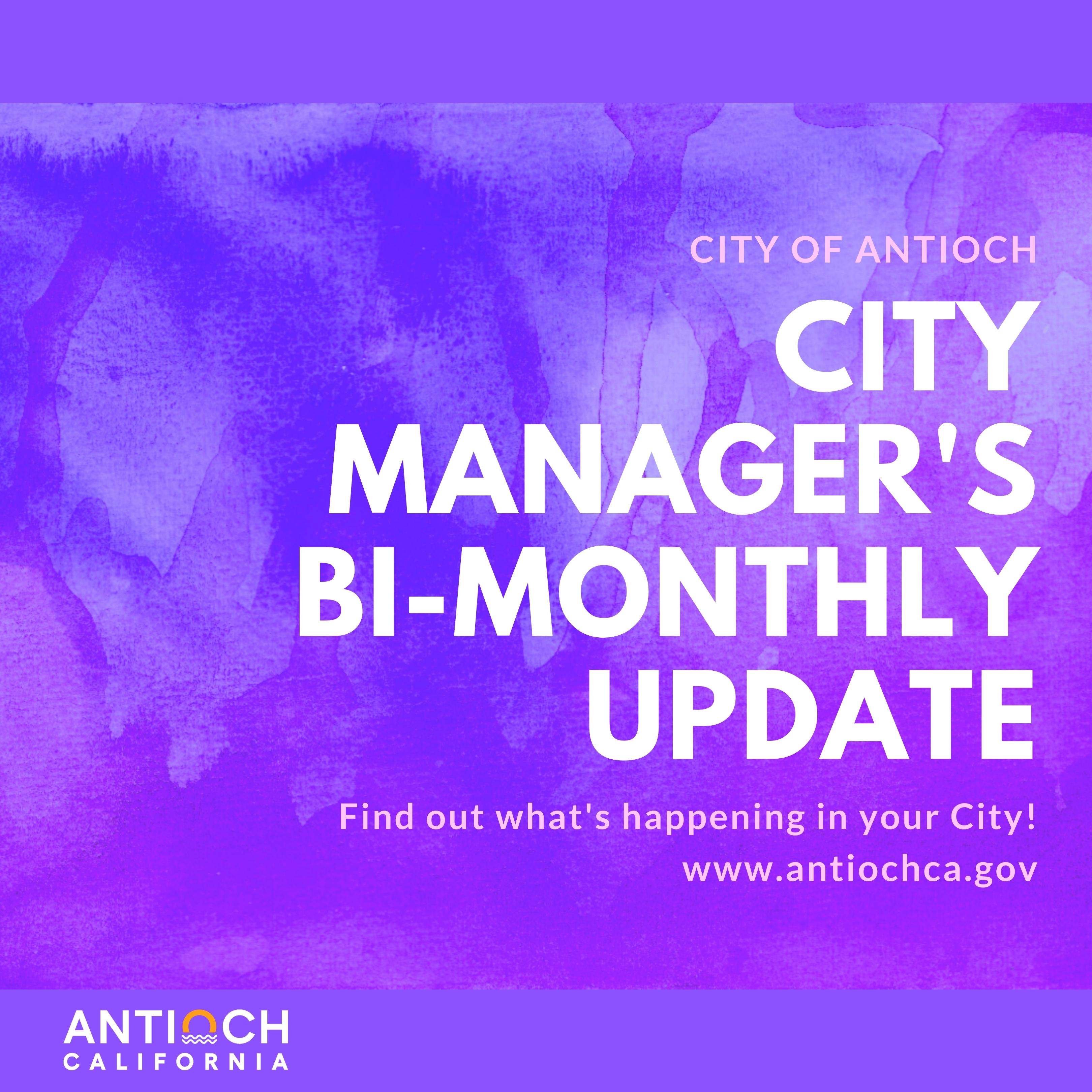 citymanagersbimonthlyupdatepur