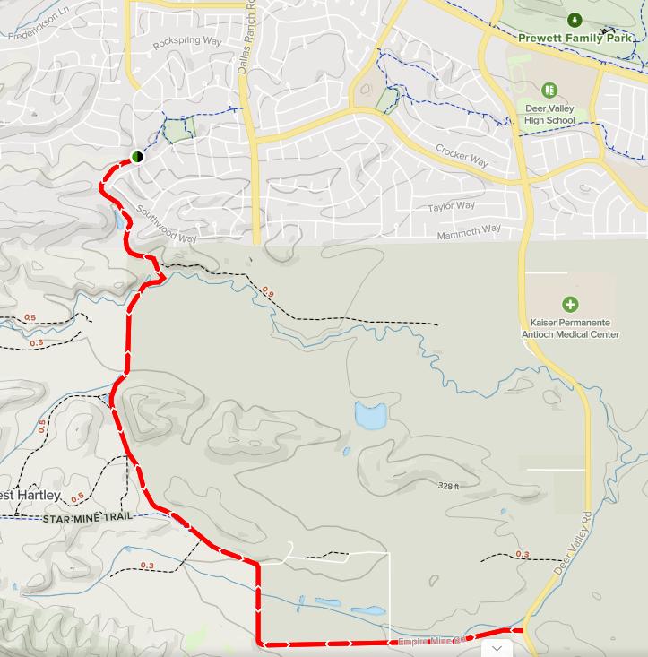 empire mine road trail